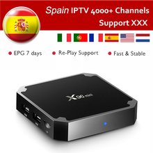 Spain IPTV X96mini Android TV Box With 1 Year IPTV Subscription Germany Italy Turkey Portugal Sweden Europe Mini Android box X96