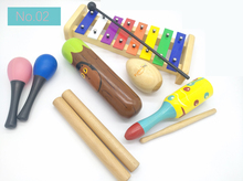 купить BIG SALE 6pc New musical instruments toy set wooden percussion instruments for baby preschool kids music rhythm early education дешево