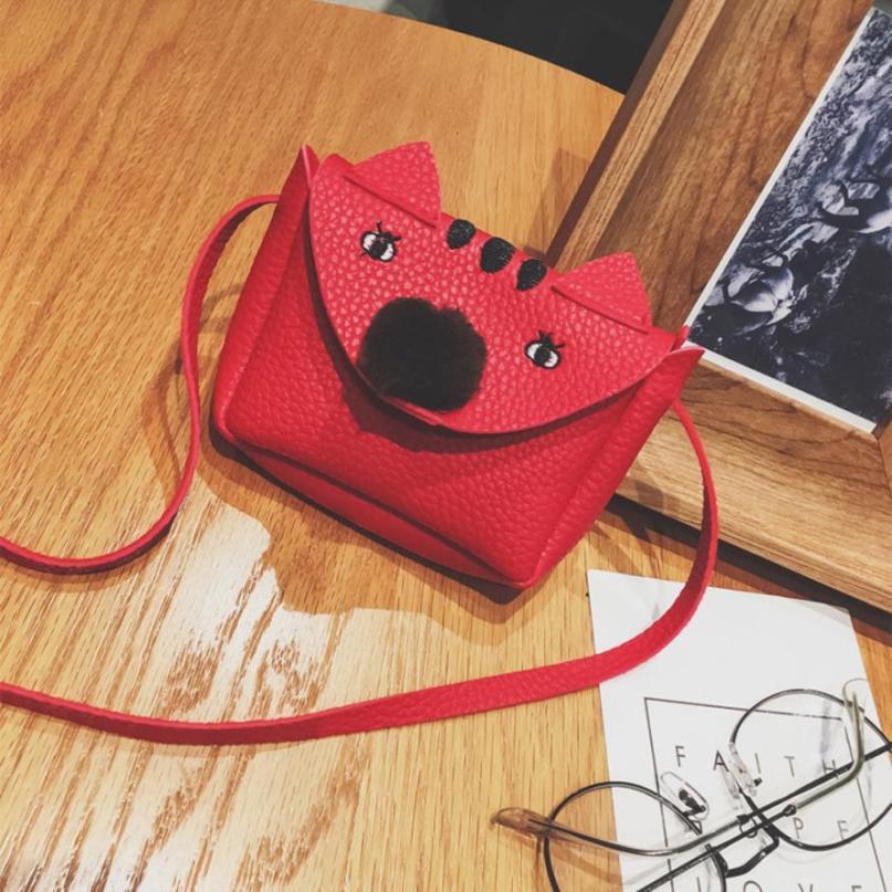 Модная детская Искусственная кожа мультфильм шаблон сумка через плечо сумка женская сплошной цвет молнии квадратная мини Сумочка # F