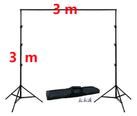 10Ft X 10Ft FREE BACKGROUND HOLDER 3M X 3M Adjustable Background Stand Kit 4pcs Clamps 1pc Carrying Bag