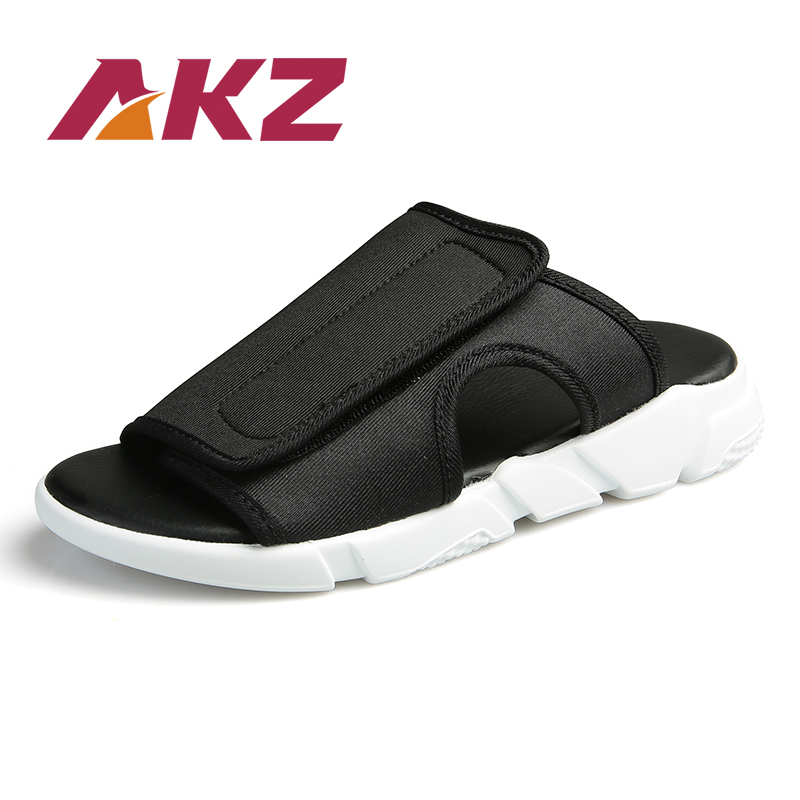 AKZ Men Slippers 2018 brand Summer Shoes for Man Beach Slippers Outside  slippers Men Casual Shoes Cotton fabric light size 39-45 969f6f6659e8