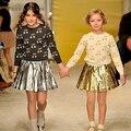 Meninas do bebê Blusas de Outono Crianças Camisola Infantil Meninas Roupas Outerwear Criança Bonito Brilhante Cereja Malha Blusas Bebê Meninas