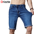 Drizzte Brand Mens Summer Stretch Lightweight Thin Denim Jeans Short for Men Jean Shorts Pants Plus Size 32 33 34 35 36 38 40 42