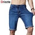 Drizzte marca mens verão estiramento leve fino jeans calças de brim curtas para os homens Jean Shorts Das Calças Plus Size 32 33 34 35 36 38 40 42
