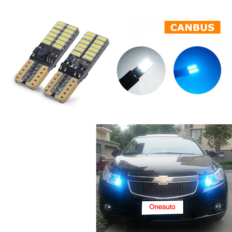 2X T10 LED W5W Car LED Clearance Light Parking For chevrolet cruze aveo lacetti cruz niva spark orlando epica sail sonic lanos wljh 11x canbus 2835 smd led dome map interior light kit for chevrolet cruze equinox sonic malibu spark suburban traverse 2015