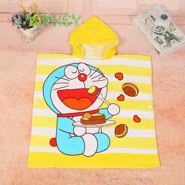 Crianças dos miúdos Do Bebê Cobertor toalha Dos Desenhos Animados Da Menina do Menino Com Capuz Poncho infantil Swim Desgaste Roupões de Banho 100% Algodão toalha de Praia Toalha de Banho