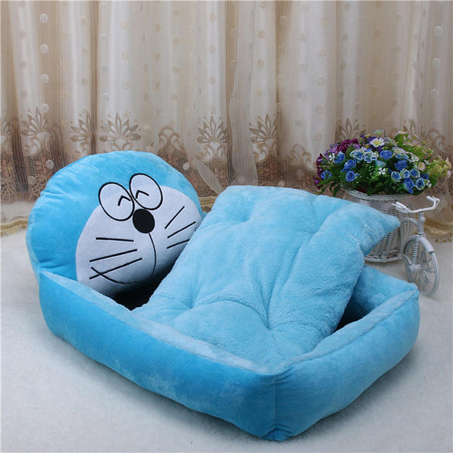 Cute Pet Dog Bed Mats Animal Cartoon Shaped Pet Sofa Kennels PP Cotton Warm Cat House Dog Pad Teddy Mats Big Blanket Supplies   4