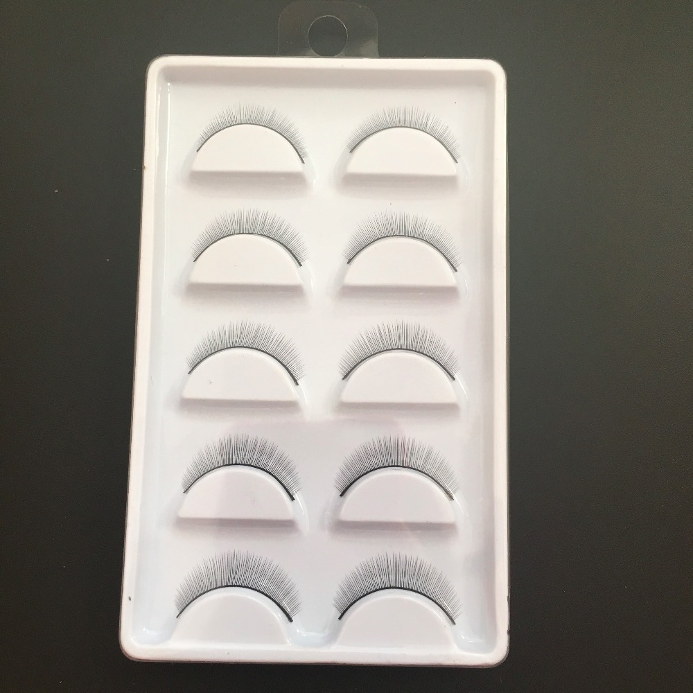 Training eyelash for eyelash training school ,natural false eyelash 5 pairs