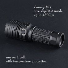 convoy M3 with cree xhp70.2,up to 4300lm ,Built-in temperature protection