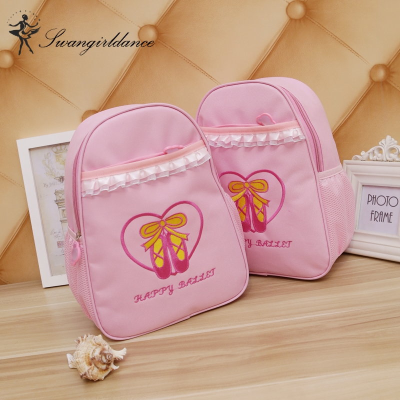 Children Pink Ballet Bags for Girls Waterproof Nylon Ballet Shoes Embroidery Dance Bags Backpack Kids Ballet GiftAS8609A