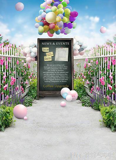 3x5ft Flower Nursery Balloon Garden Wedding Girl Love
