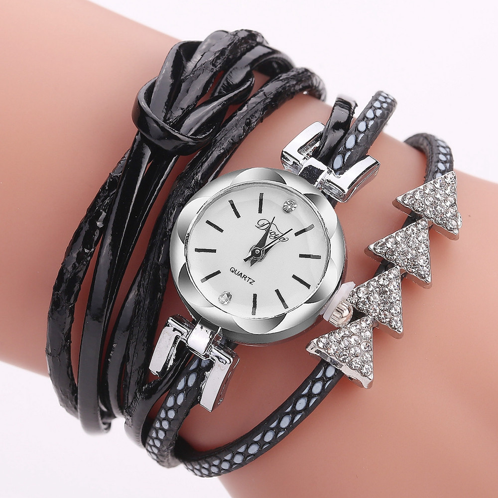 Best Sale 2018 Fashion Womens Bracelet Vintage Weave Wrap Quartz PU Leather Gift Casual  ...