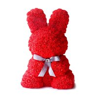 Artificial Rose Rabbit Dolls Wedding Valentine'S Day Birthday Girlfriend Toy Simulated Love Gift Anniversary present