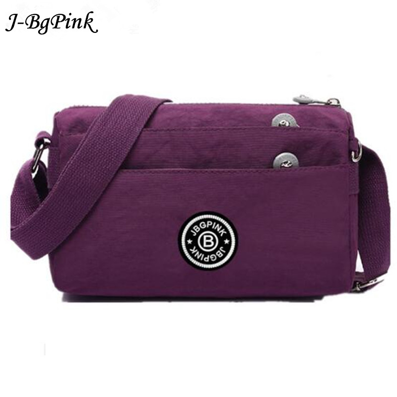 J-BG PinK Women Messenger Bags Crossbody Bag Nylon Female Shoulder Bag Designer Handbags High Quality Purse Female Casual все цены