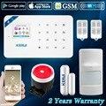 2017 w18 wifi gsm sms home do assaltante sistema de alarme de segurança anti-pei pir motion detector de alarme da tela de toque do painel controle app