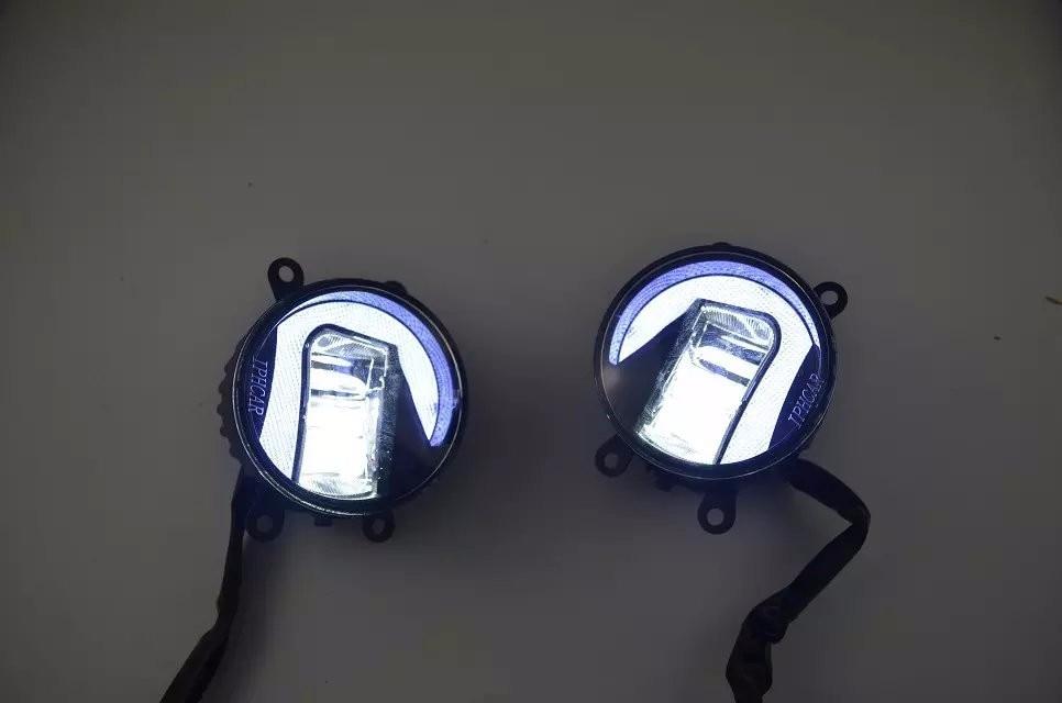 eOsuns LED DRL 20W Fog Lamp for toyota corolla camry puris prado hilux vigo verso highlander wish rav4 estima sienna avalon