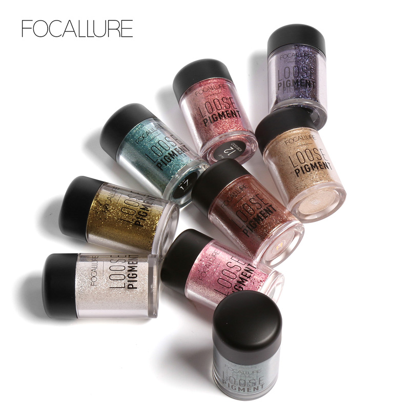 Beauty & Health Eye Shadow Focallure 12 Colors Glitter Eyeshadow Diamond Lips Loose Makeup Eye Shadow Highly Pigment Powder Drop Shipping Year-End Bargain Sale