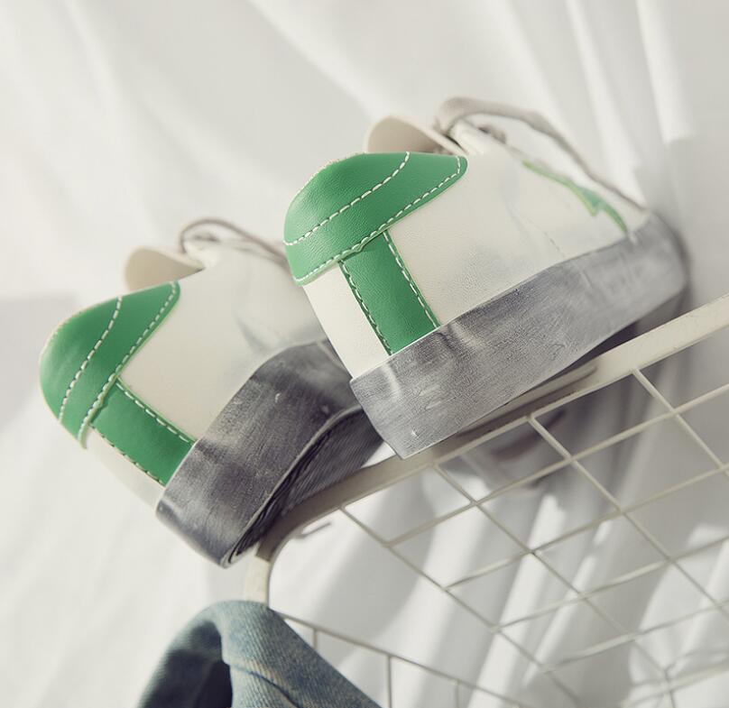 Viejo C403 blanco De Mujer Estrella 2019 Tenis Color Las Sucio Planos Cuero verde Femenino Casuales Zapatos Mixto Calzado Mujeres Negro P8wan1qYaH