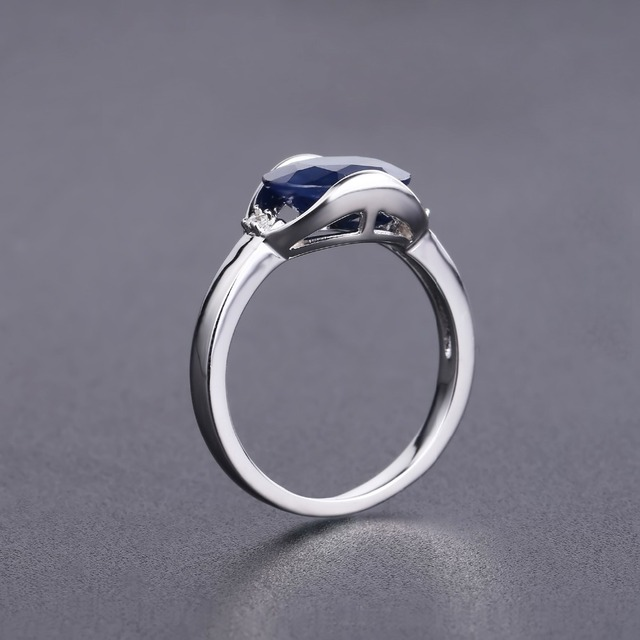 Natural Blue Sapphire Ring 3.24Ct