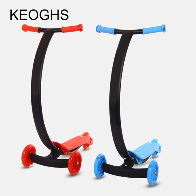 new model Children's kick scooter baby kid PU 3wheels Fashing fold outdoor toy 2-12years old Bodybuilding disassembly plastic