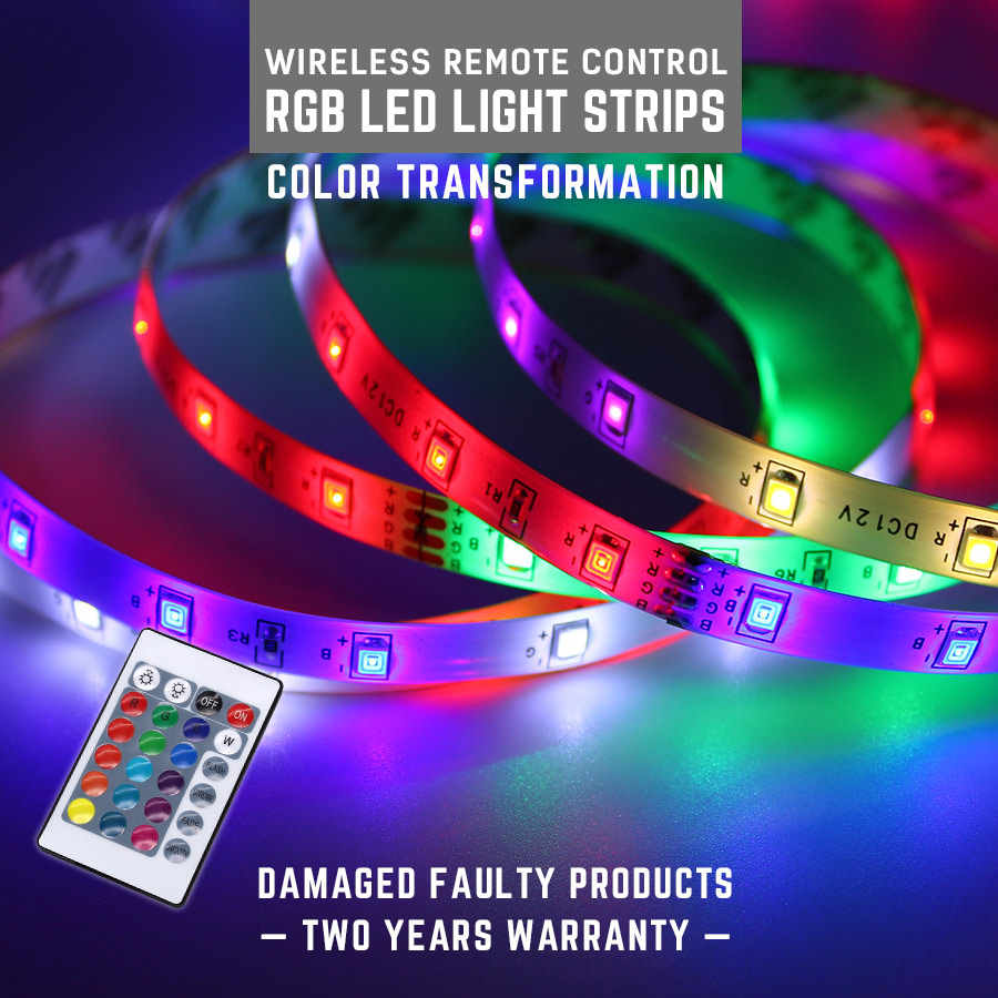 Computer Mainframe Chassis Lights Rgb Led Light Strips Dc 12v 5m Led Strip Light Diy Decorative Tv Background Lighting