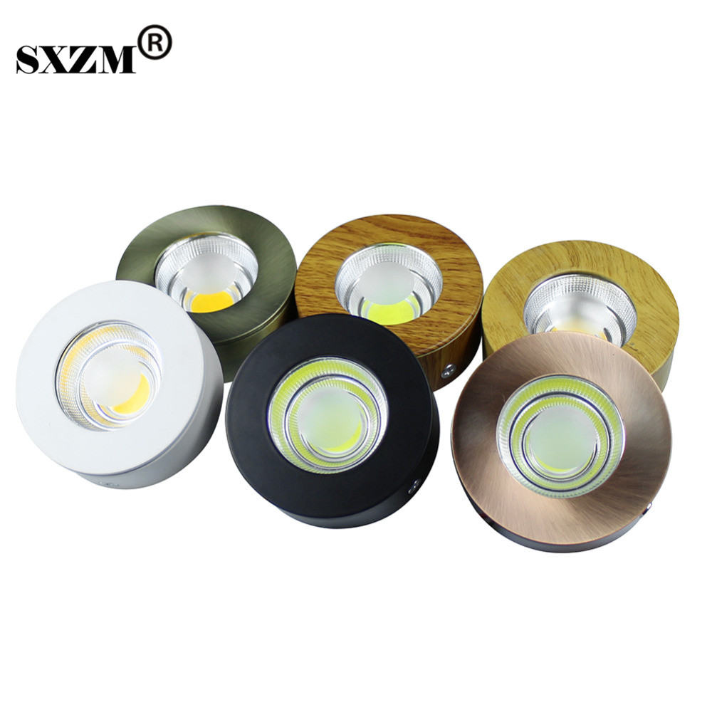 SXZM 5W AC110V 220V COB led cabinet light Round ceiling light Surfaced mounted white/warm white with led driver home decoration