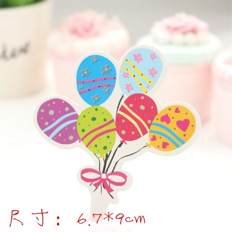 50pcs Multicolor Cupcake Cake Toppers Party Supplies Tutu Table Birthday Decorations Kids decorations