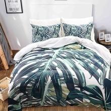 цена Tropical Plants Design Digital Printing Fashion Duvet Cover Set US Twin Queen King Size Quilt Cover Pillowcase 3D Bedding Sets онлайн в 2017 году