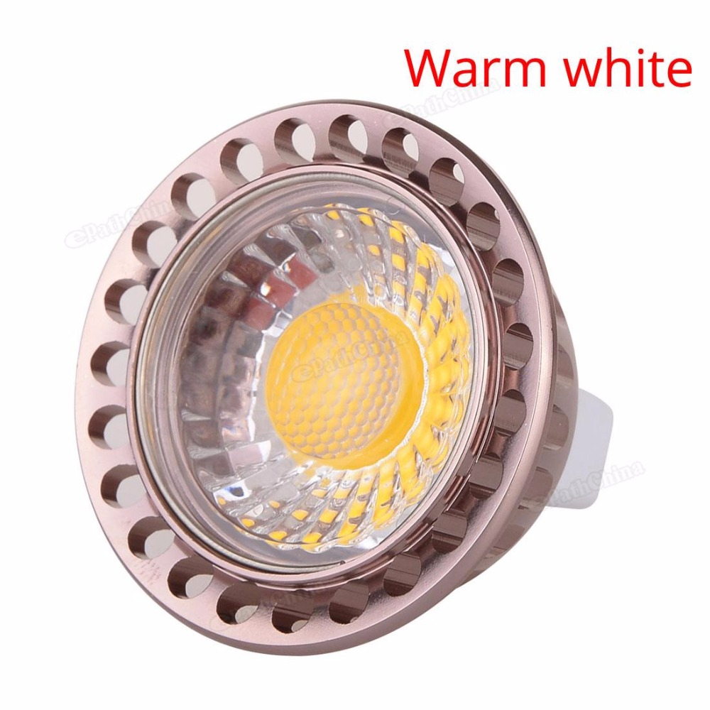 Sale Dimmable MR16 720-800LM 9W 12V LED Light Bulb Warm White / White COB Spotlight Lamp Downlight