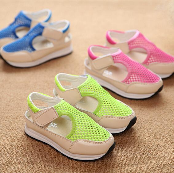 Мода кат-аутов детей мальчики девочки дыхания воздух сетки детская обувь конфеты цвет свободного покроя для детей кроссовки девушки кроссовки