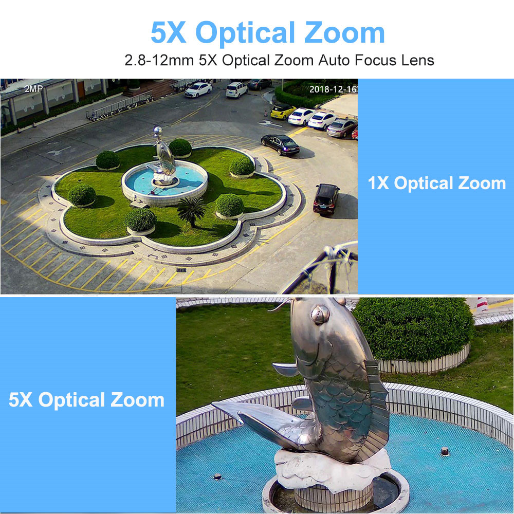 Image 3 - 1080P Wifi IP Camera Outdoor Two Way Audio PTZ 5X Optical Zoom Night Vision IR 60M Wireless Security Speed Dome Camera P2P-in Surveillance Cameras from Security & Protection
