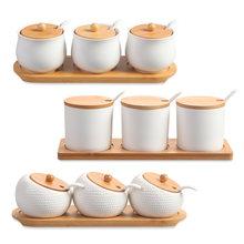 Керамическая коробка для приправ соляная банка домашняя кухонная