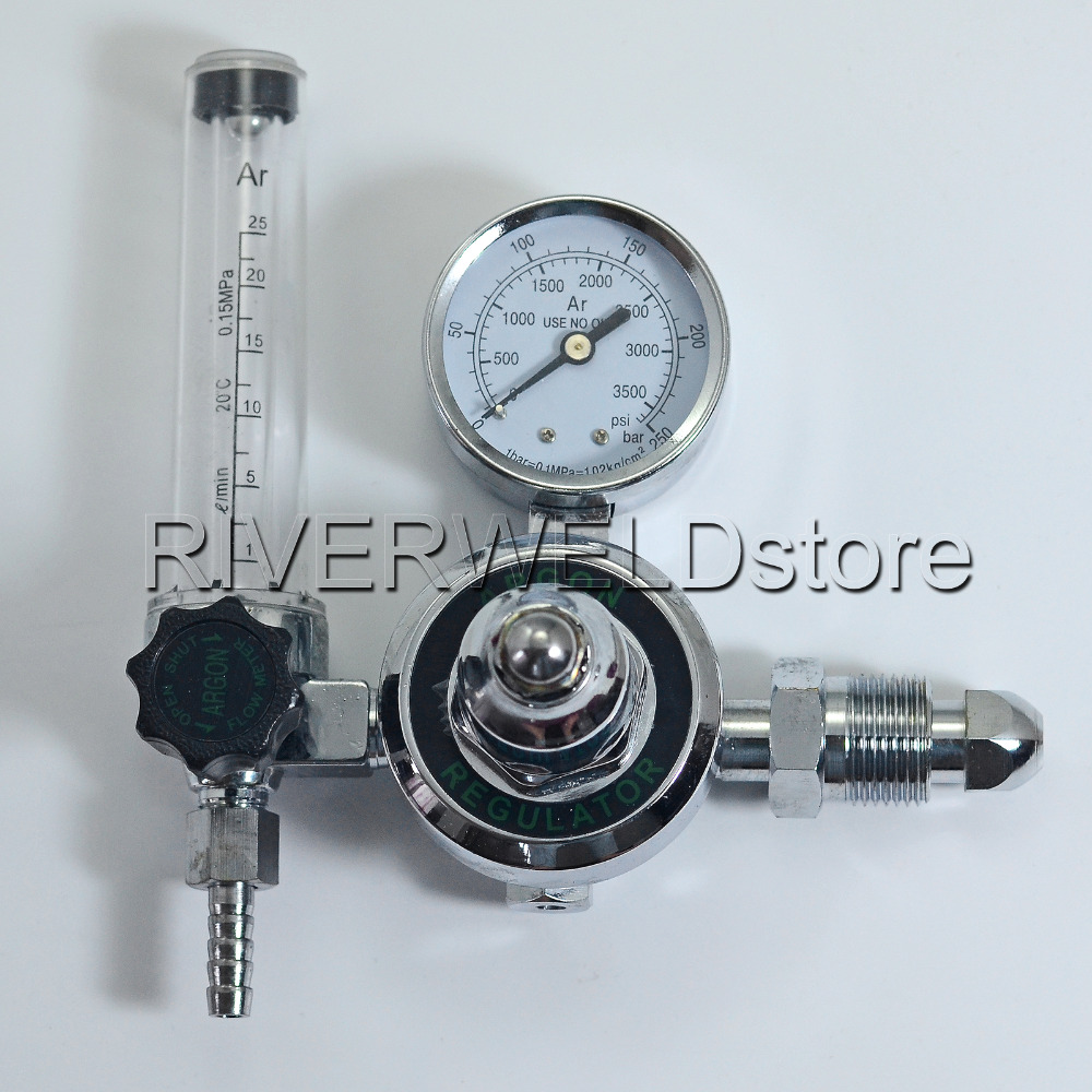 Argon CO2 Gauges Pressure Reducer MIG TIG Flow Meter Control Valve Gauge Welding Regulator UK Standard Outside Thread G5/8 купить в Москве 2019