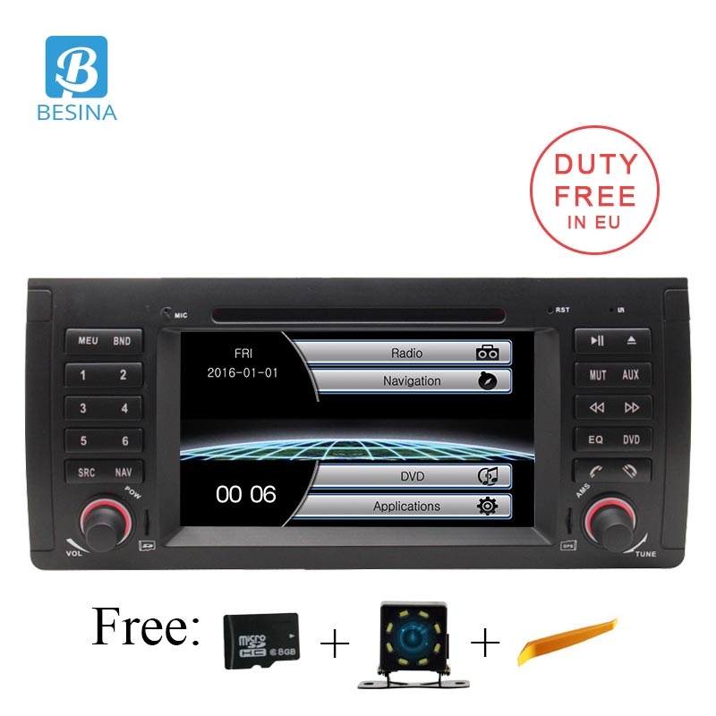 Besina 2 Din Car Multimedia Player For BMW E39 X5 M5 E53 Car Stereo Radio GPS CD DVD Video Player Headunit RDS Bluetooth
