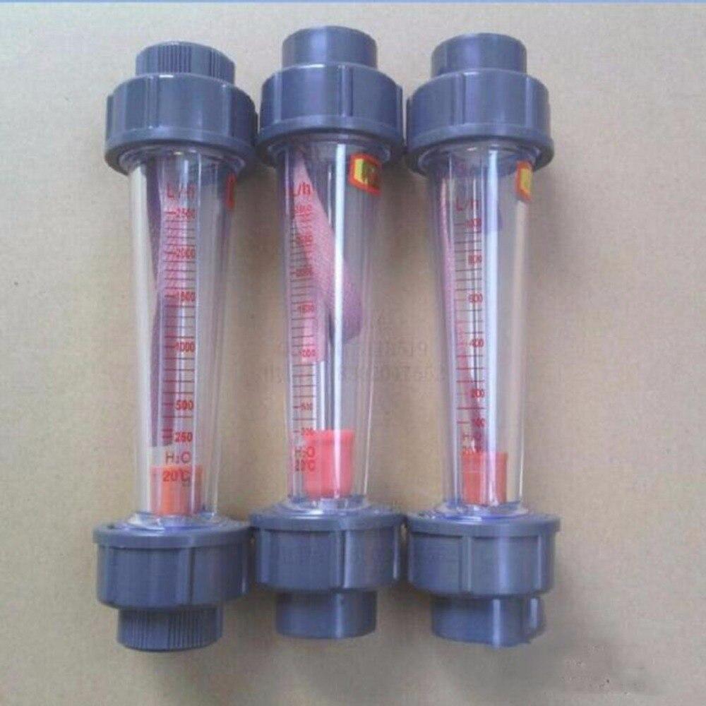 LZB-50S Rotameter Plastic Water Flow Meter (Long tube) Flow range 0.6-6m3/h ,LZB50S Tools Flow Meters plumbing цена
