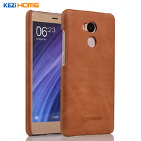 For Xiaomi Redmi 4 Pro Case Frosted Genuine Cow Leather Hard Back Case Cover For Redmi