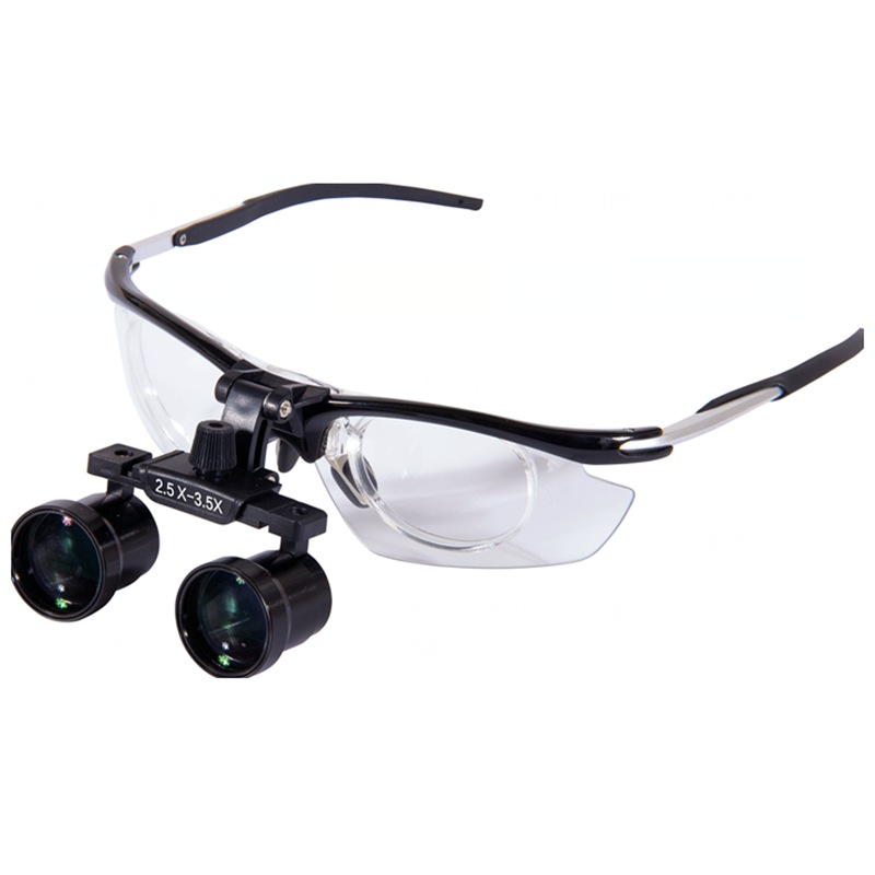 Surgical Dental Loupes Zoom 2.5X to 3.5X Dental Surgical Medical Equipment Teeth Dental Loupe Binocular Magnifier 3 5x420mm dental surgical loupe magnifier portable medical binocular glasses oral camera head light lamp teeth whitening