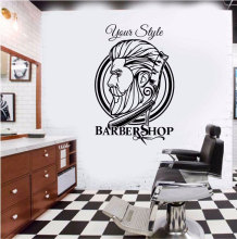 Barber Shop Hipster Wall Sticker Decoration Hair Dresser Decal Removable Art Decor MF41