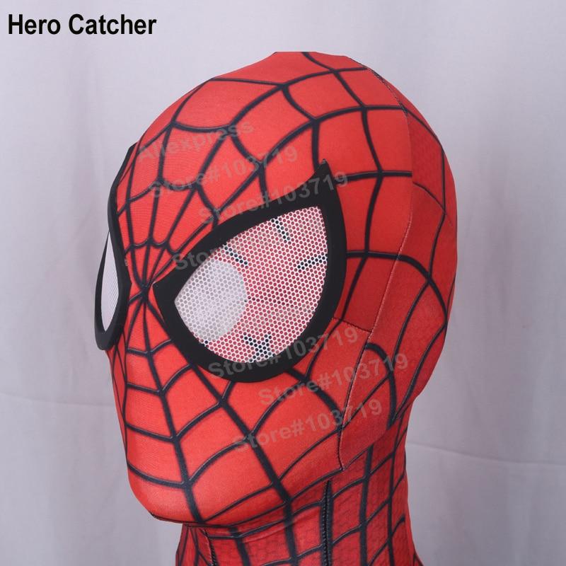 Hero Catcher High Quality S-M-L-XLNew Comic <font><b>Spiderman</b></font> Mask Amazing <font><b>Spiderman</b></font> Cosplay Mask Movie Spandex Lycra Mask With Lense #<font><b>3</b></font>