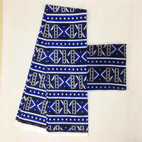 2019 New 2+4yards satin silk with chiffon fabric soft african fabric for dress ankara fabric african kente wax prints silk