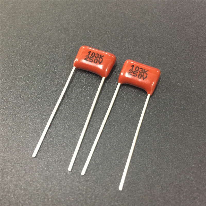50PCS CL21 473K 250V 0.047UF 47NF P8 Metallized Film Capacitor