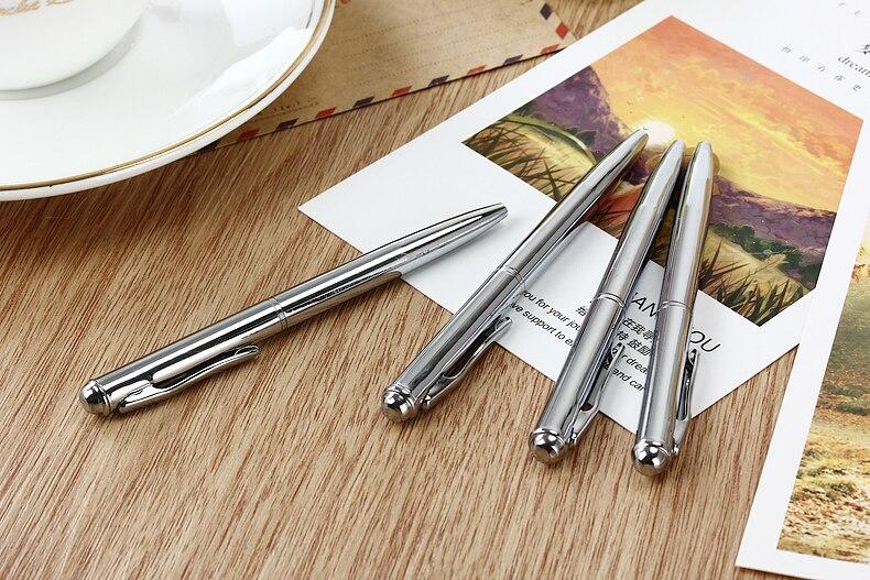 Mini Pocket Size Ballpoint Pen Metal Rotating Small Portable Oil Pen Black Blue