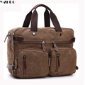 large capacity canvas man bags vintage briefcase handbags versatile men messenger Laptop bag men shoulder bag bolsa feminina