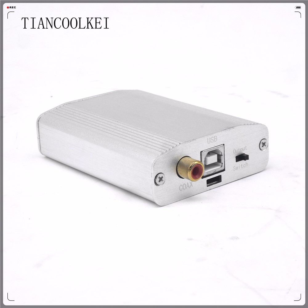 Portable PCM2706 PC Audio Decoder USB sound card Output Coaxial and 3.5mm Headphones DAC to I2S support OTG Android