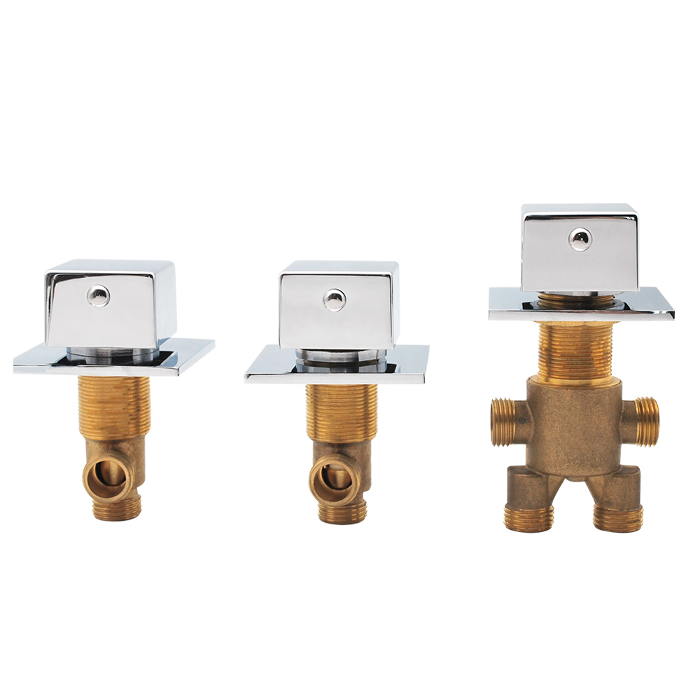Vagsure Cold and Hot Water Tap Brass Switch Control Valve For Bathtub Faucet Set Shower Cabin Mixer Faucet Bath Faucet in Bathtub Faucets from Home Improvement