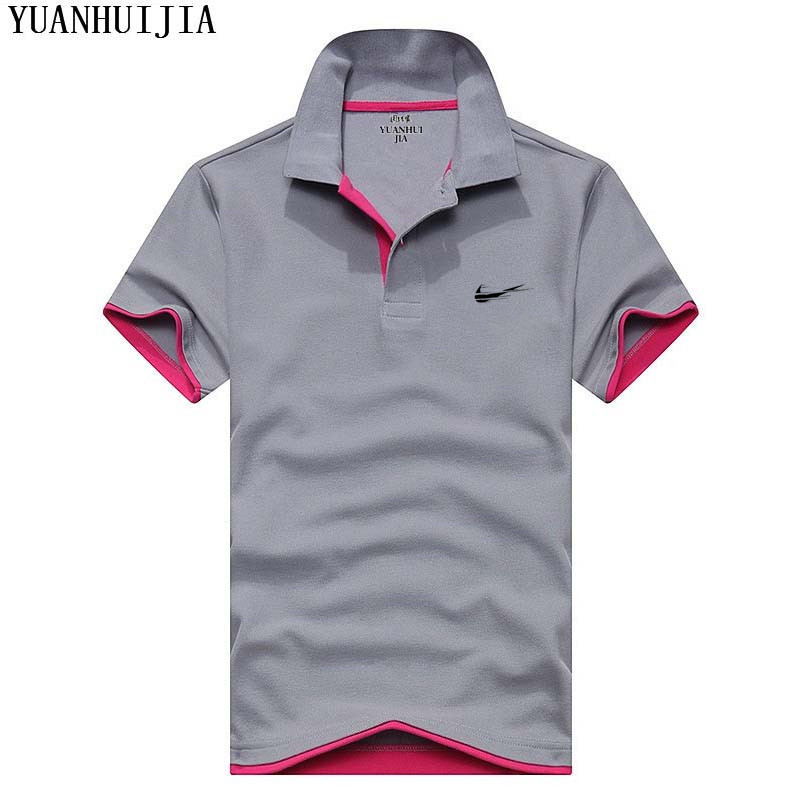 Polo JUST BREAK IT Brand Clothing Male Fashion Casual men Polo Shirts Solid Casual Polo Tee Shirt Tops High Quality Slim Fit
