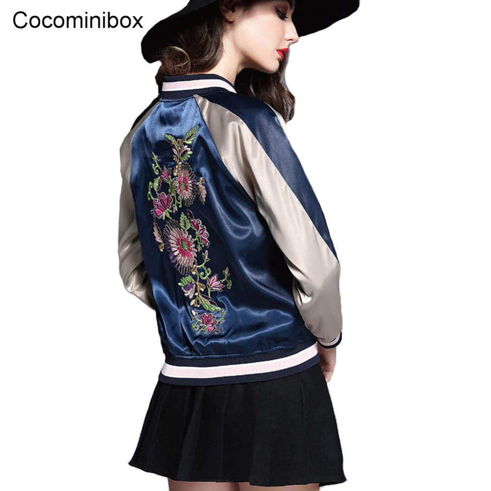 Baseball Jacket Flower Embroidery Promotion-Shop for Promotional ...