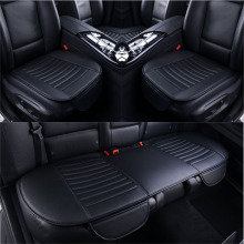 Ultra-Luxury Car Seat Cover Four Seasons Front Rear PU Leather Cushion,Protector Mat Pad Auto accessories Universal Size