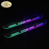 Custom Logo Colorful Acrylic Dynamic LED Welcome Pedal Car Scuff Plate Pedal Trim Door Sill For Audi A6 C7 S6 Sedan