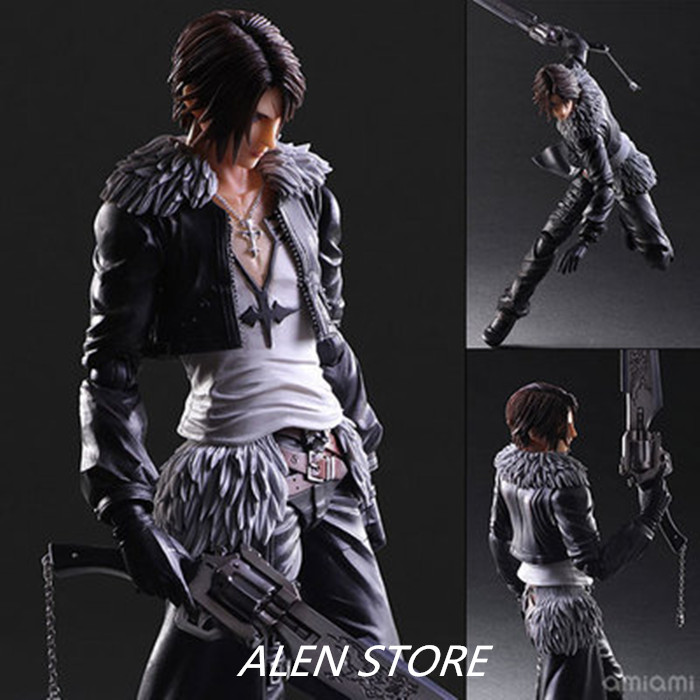 ALEN Anime Game Play Arts Kai Final Fantasy VIII FF8 Squall Leonhart PVC Statue Model 10 Action Figure Playarts Toys